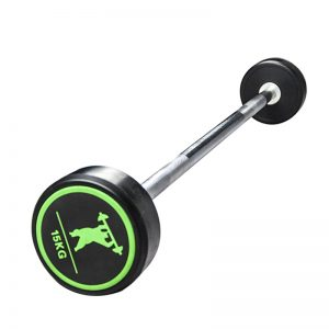 rubber coated fixed barbells