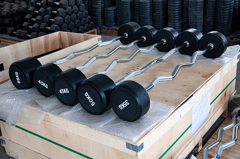rubber fixed curl bar