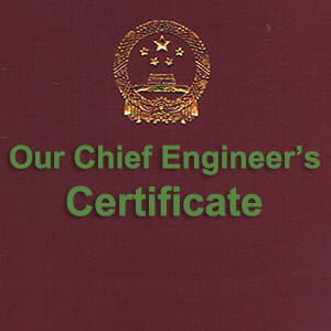 Chief Engineer's Certificate