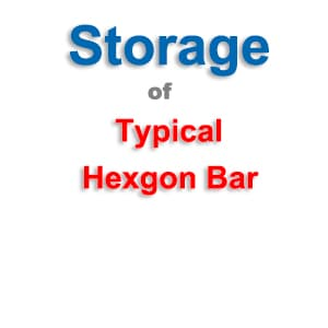 Hexgon Bar Storage