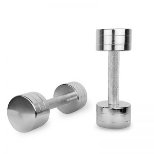 chrome dumbbells set