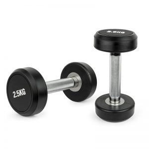 solid steel dumbbells