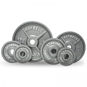 standard barbell plates