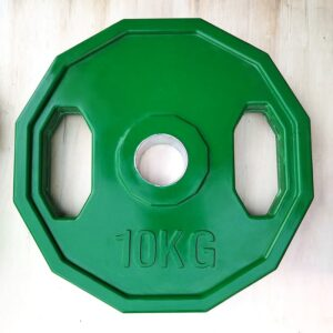 12-sided olympic rubber coated grip plate