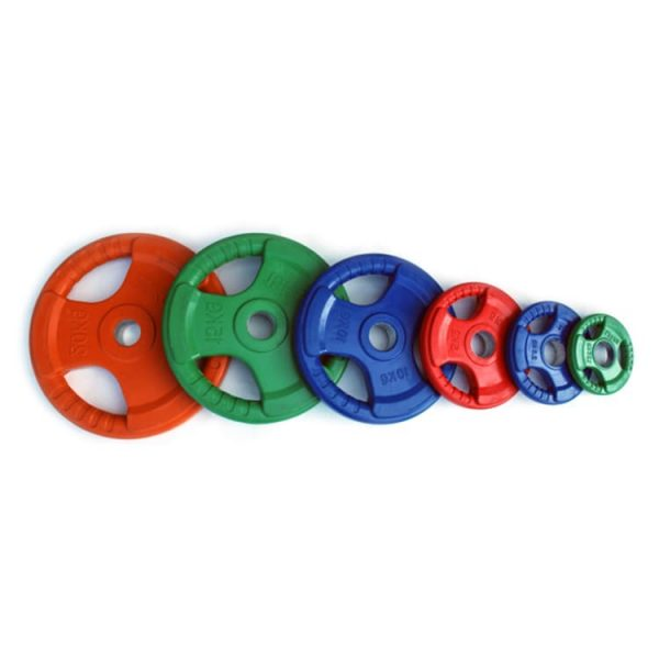 color rubber grip weight plates