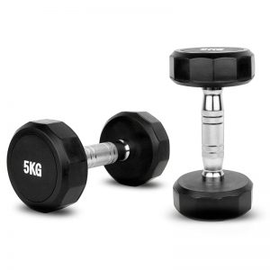 12 sided rubber dumbbells